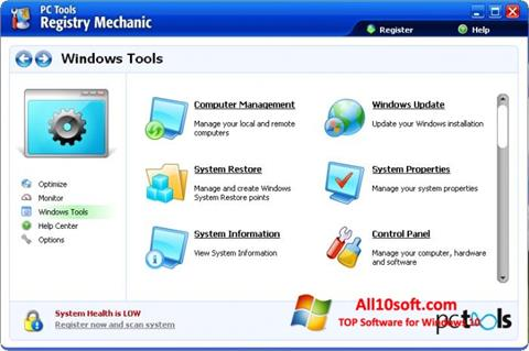 स्क्रीनशॉट Registry Mechanic Windows 10
