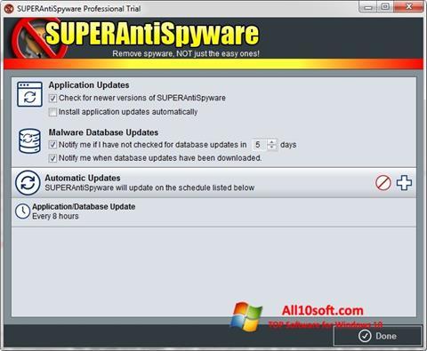स्क्रीनशॉट SUPERAntiSpyware Windows 10