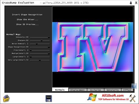 स्क्रीनशॉट CrazyBump Windows 10