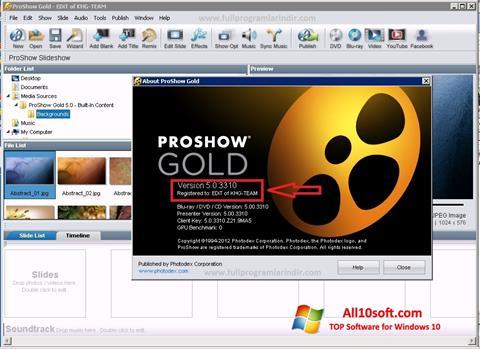 स्क्रीनशॉट ProShow Gold Windows 10