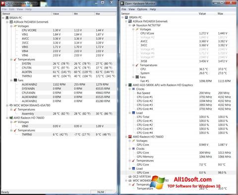 स्क्रीनशॉट Open Hardware Monitor Windows 10