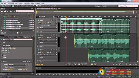 स्क्रीनशॉट Adobe Audition CC Windows 10