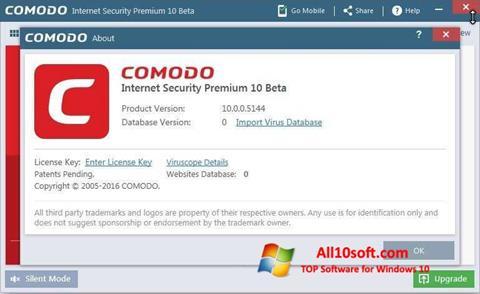 स्क्रीनशॉट Comodo Windows 10