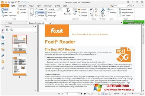 स्क्रीनशॉट Foxit Reader Windows 10
