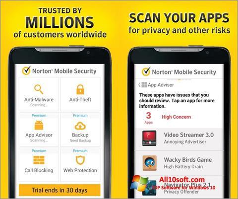 स्क्रीनशॉट Norton Mobile Security Windows 10