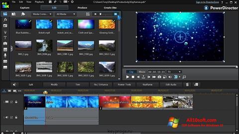 स्क्रीनशॉट CyberLink PowerDirector Windows 10