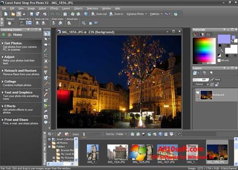 स्क्रीनशॉट PaintShop Pro Windows 10