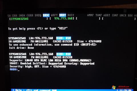 स्क्रीनशॉट MHDD Windows 10