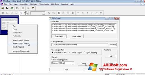 स्क्रीनशॉट DjVu Solo Windows 10