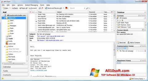 स्क्रीनशॉट eM Client Windows 10