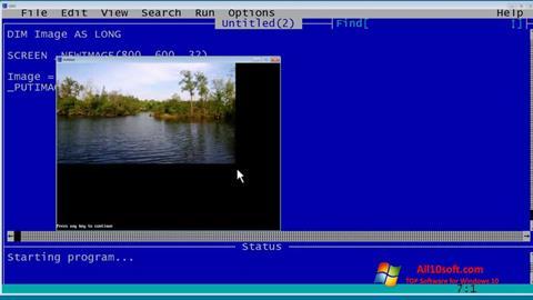 स्क्रीनशॉट QBasic Windows 10