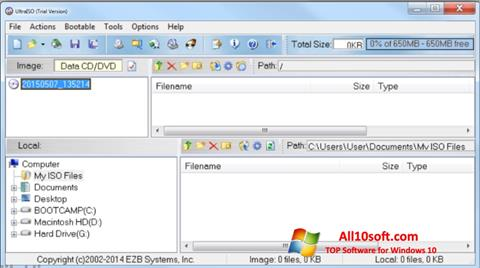 स्क्रीनशॉट UltraISO Windows 10