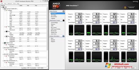 स्क्रीनशॉट AMD Overdrive Windows 10