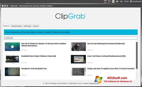 स्क्रीनशॉट ClipGrab Windows 10
