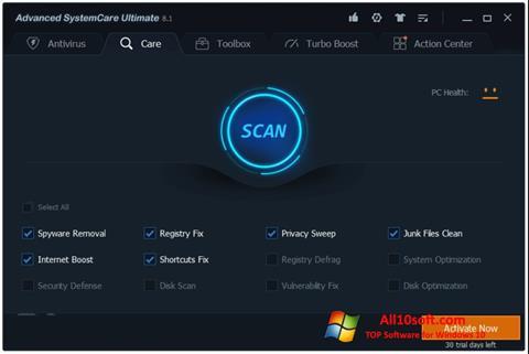 स्क्रीनशॉट Advanced SystemCare Windows 10
