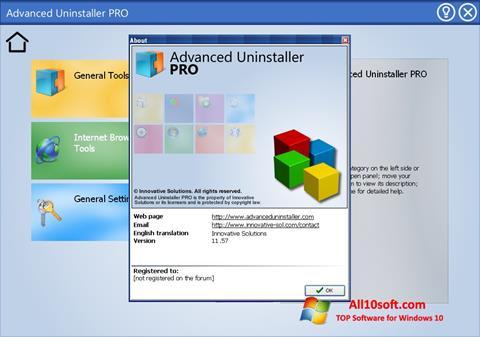 स्क्रीनशॉट Advanced Uninstaller PRO Windows 10