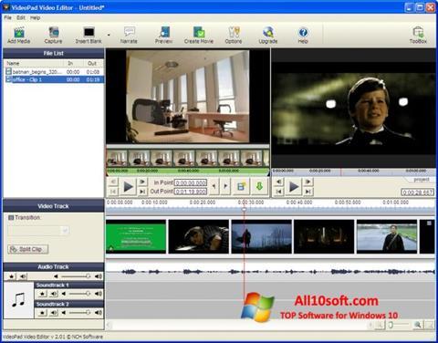 स्क्रीनशॉट VideoPad Video Editor Windows 10