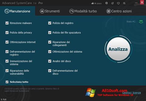 स्क्रीनशॉट Advanced SystemCare Pro Windows 10