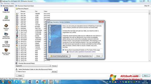 स्क्रीनशॉट BadCopy Pro Windows 10