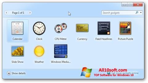 स्क्रीनशॉट 8GadgetPack Windows 10