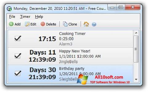स्क्रीनशॉट Free Countdown Timer Windows 10