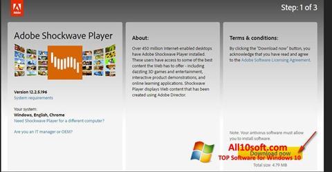 स्क्रीनशॉट Adobe Shockwave Player Windows 10