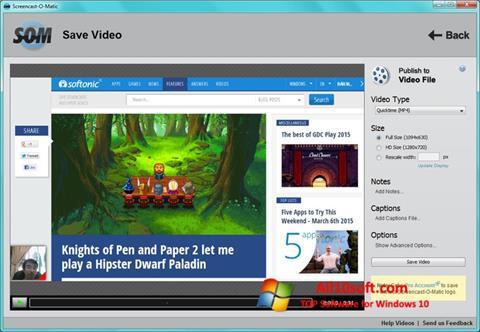 स्क्रीनशॉट Screencast-O-Matic Windows 10