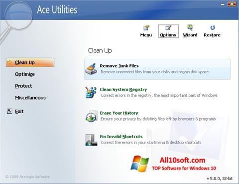 स्क्रीनशॉट Ace Utilities Windows 10
