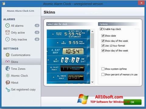 स्क्रीनशॉट Atomic Alarm Clock Windows 10