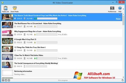स्क्रीनशॉट 4K Video Downloader Windows 10