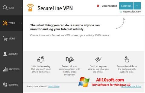 स्क्रीनशॉट Avast SecureLine VPN Windows 10
