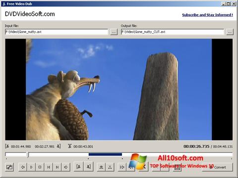स्क्रीनशॉट Free Video Dub Windows 10