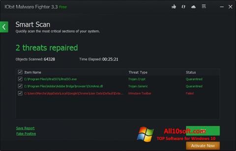 स्क्रीनशॉट IObit Malware Fighter Windows 10