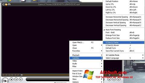 स्क्रीनशॉट GOM Player Windows 10