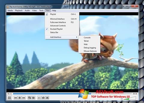 स्क्रीनशॉट VLC Media Player Windows 10