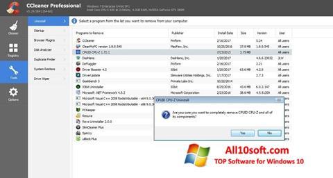 स्क्रीनशॉट CCleaner Professional Plus Windows 10