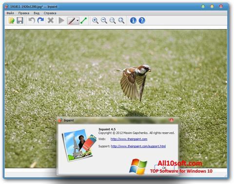 स्क्रीनशॉट Inpaint Windows 10