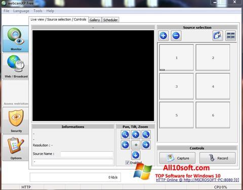 स्क्रीनशॉट webcamXP Windows 10