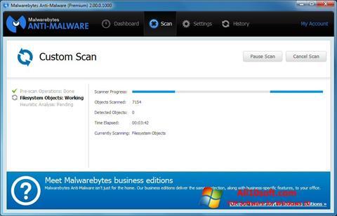 स्क्रीनशॉट Malwarebytes Anti-Malware Free Windows 10