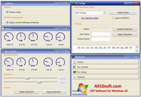 स्क्रीनशॉट ClockGen Windows 10