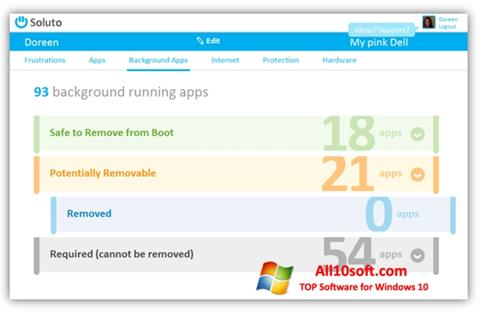 स्क्रीनशॉट Soluto Windows 10