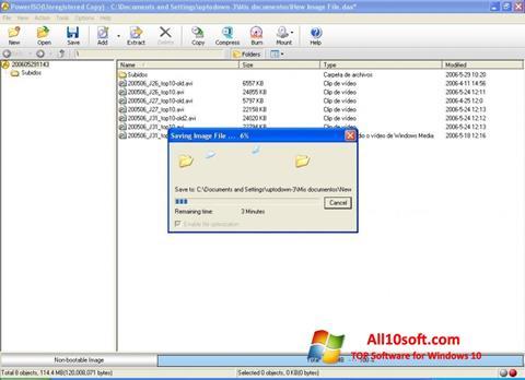 स्क्रीनशॉट PowerISO Windows 10
