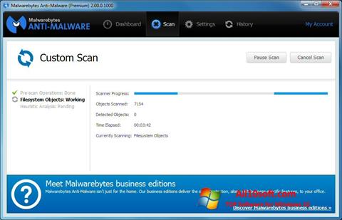स्क्रीनशॉट Malwarebytes Anti-Malware Windows 10