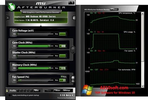 स्क्रीनशॉट MSI Afterburner Windows 10