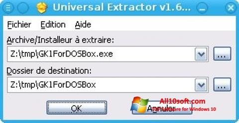 स्क्रीनशॉट Universal Extractor Windows 10