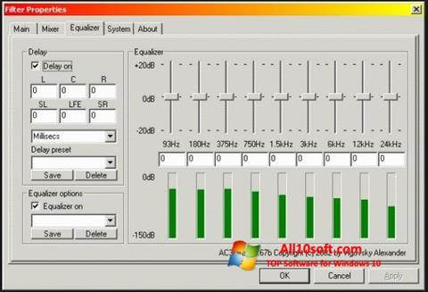 स्क्रीनशॉट AC3 Codec Windows 10