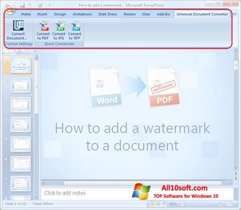 स्क्रीनशॉट Microsoft PowerPoint Windows 10