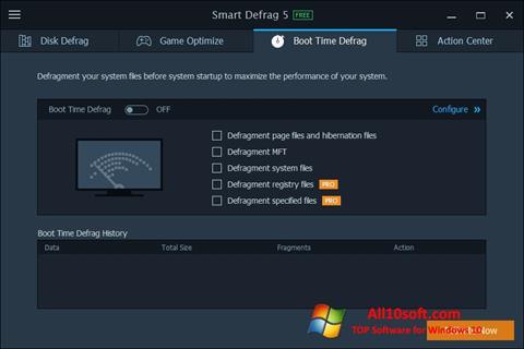 स्क्रीनशॉट Smart Defrag Windows 10