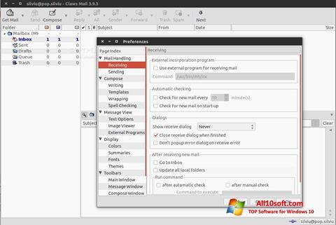 स्क्रीनशॉट Claws Mail Windows 10