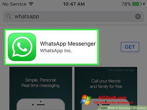 स्क्रीनशॉट WhatsApp Windows 10